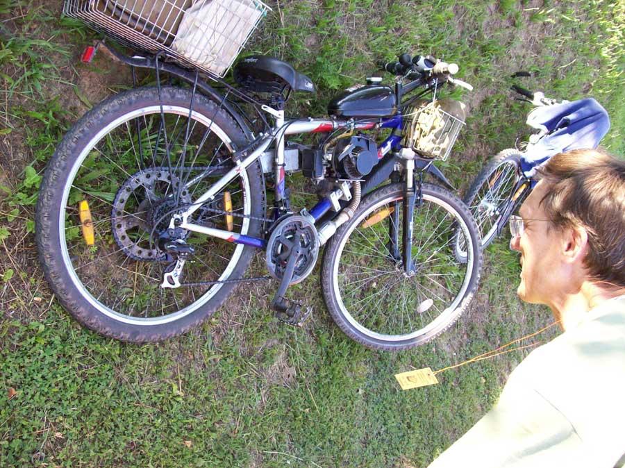kolo s motorem ze sekačky