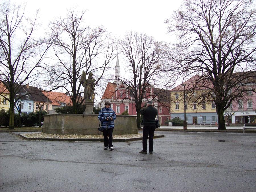 náměstí v Soběslavi - cestou do cukrárny
